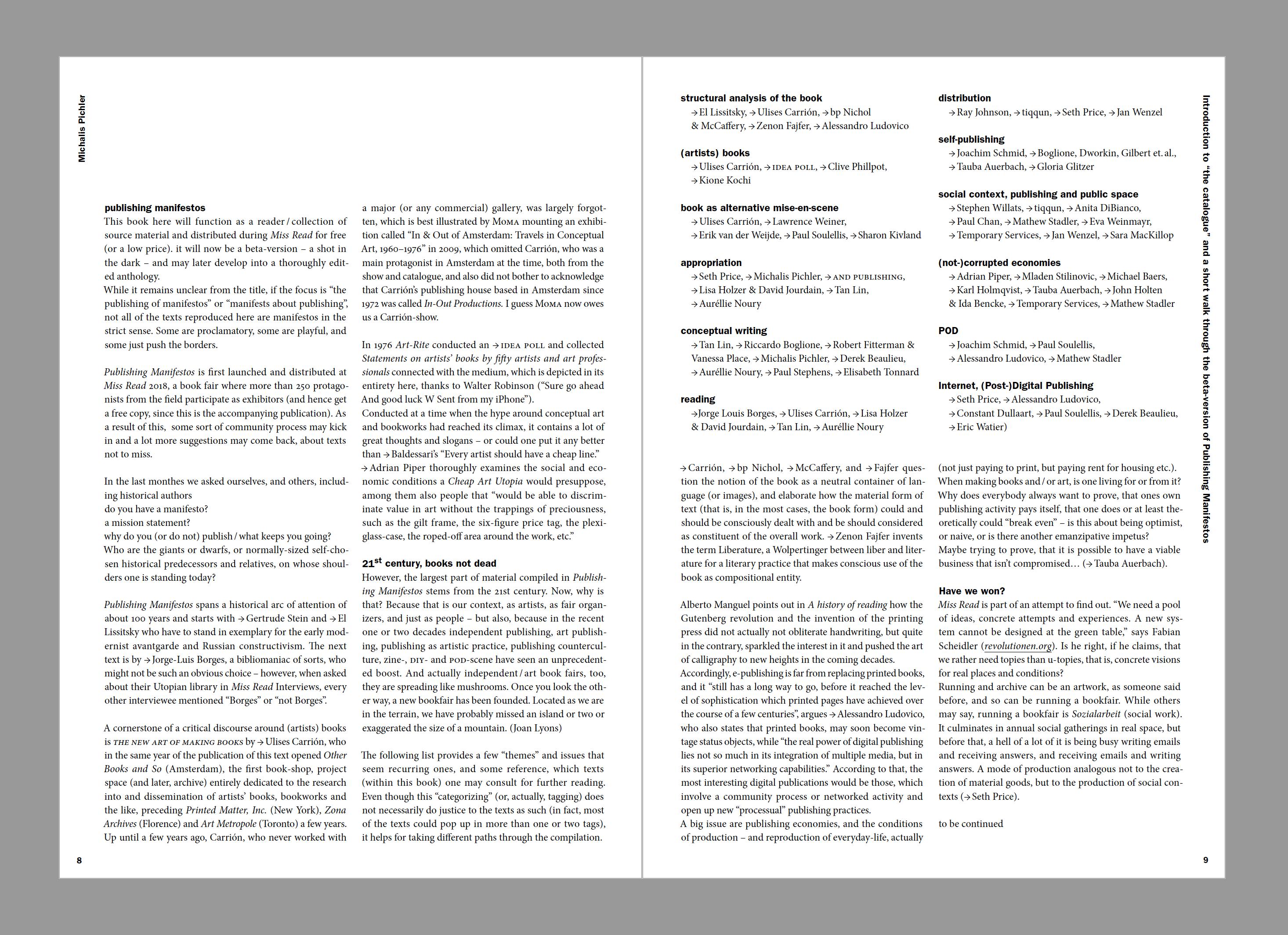 edcat – Publishing Manifestos (Beta Version)